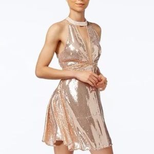 NWT Free People Rose Gold Sequin Dress Size 0